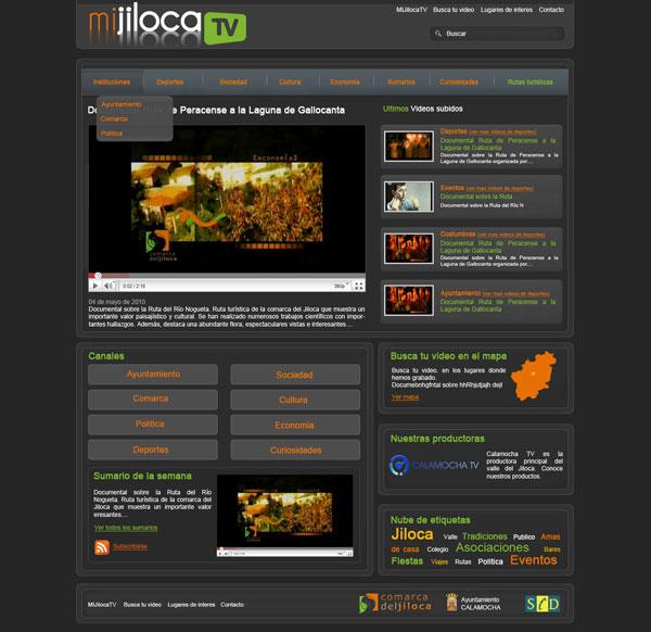 diseño web mijiloca tv