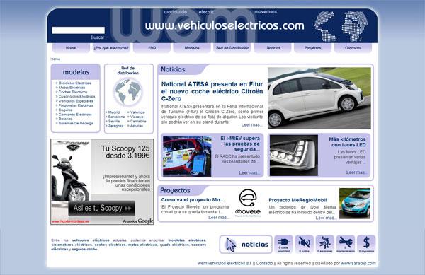 diseño web vehiculos electricos