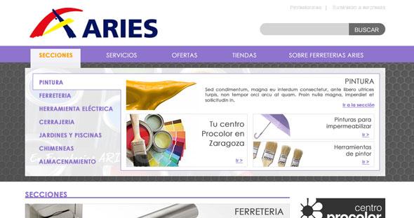 Diseño tienda online ferretería