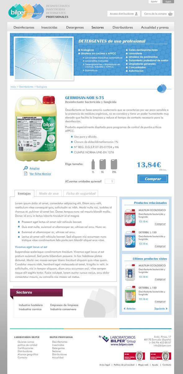 Diseño página de producto