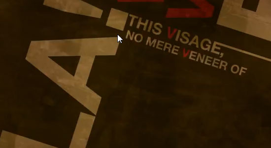 V for Vendetta Typography