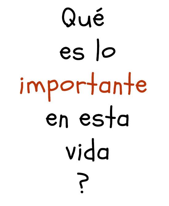 lo importante
