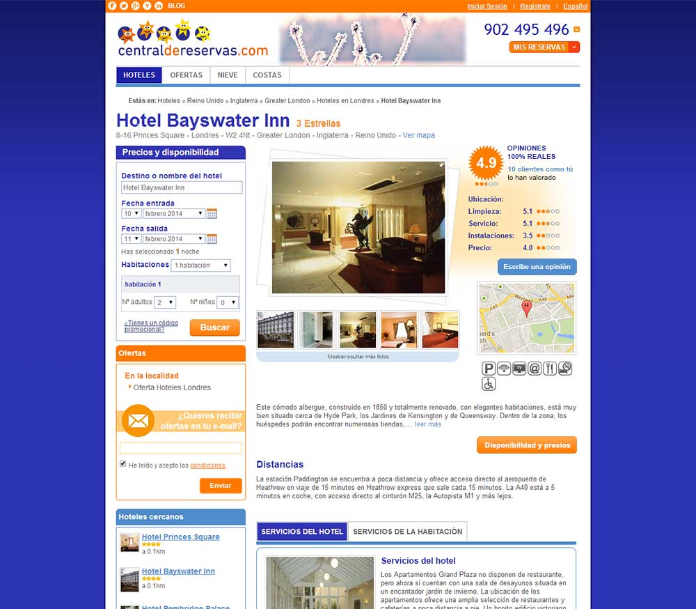 Diseño página de alojamiento