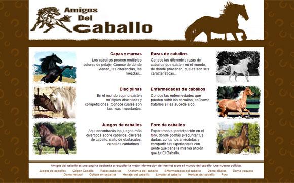 diseño web caballos