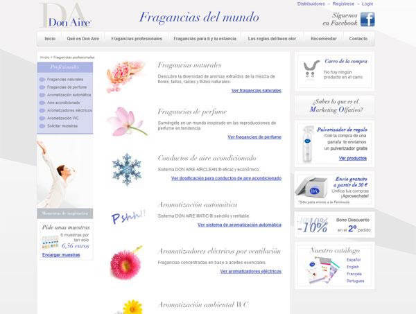 Página web Ambientadores DA