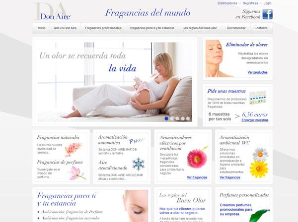 Diseño web Ambientadores Don Aire