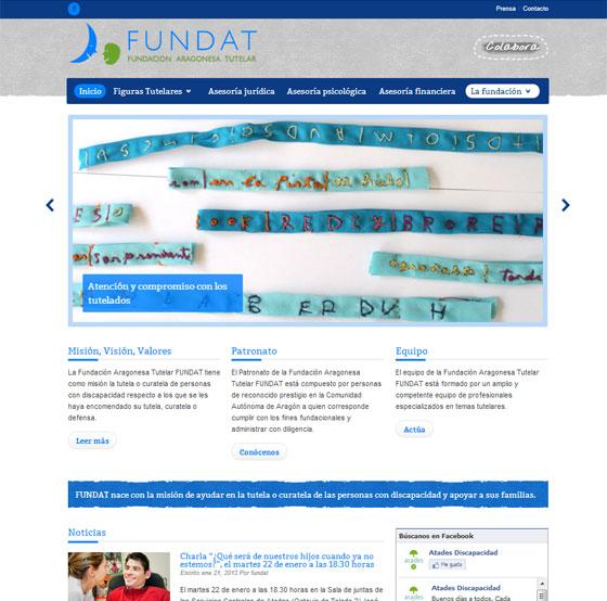 Diseño web fundacion