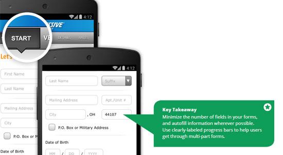 Diseños de formularios para móviles