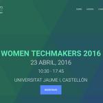 Ponencia en el Women TechMakers de Castellón